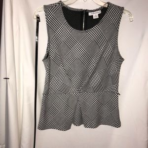 Liz Claiborne, Black/white houndstooth top